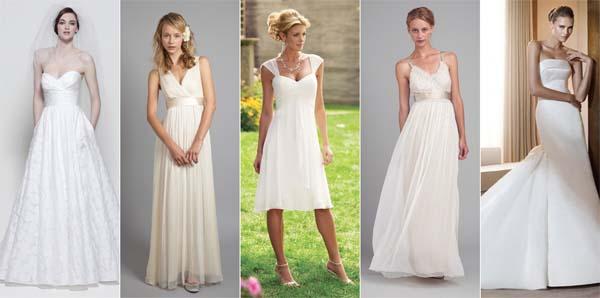 Vestido de noiva simples para casamento de manha