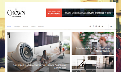 Crown Responsive Blogger template