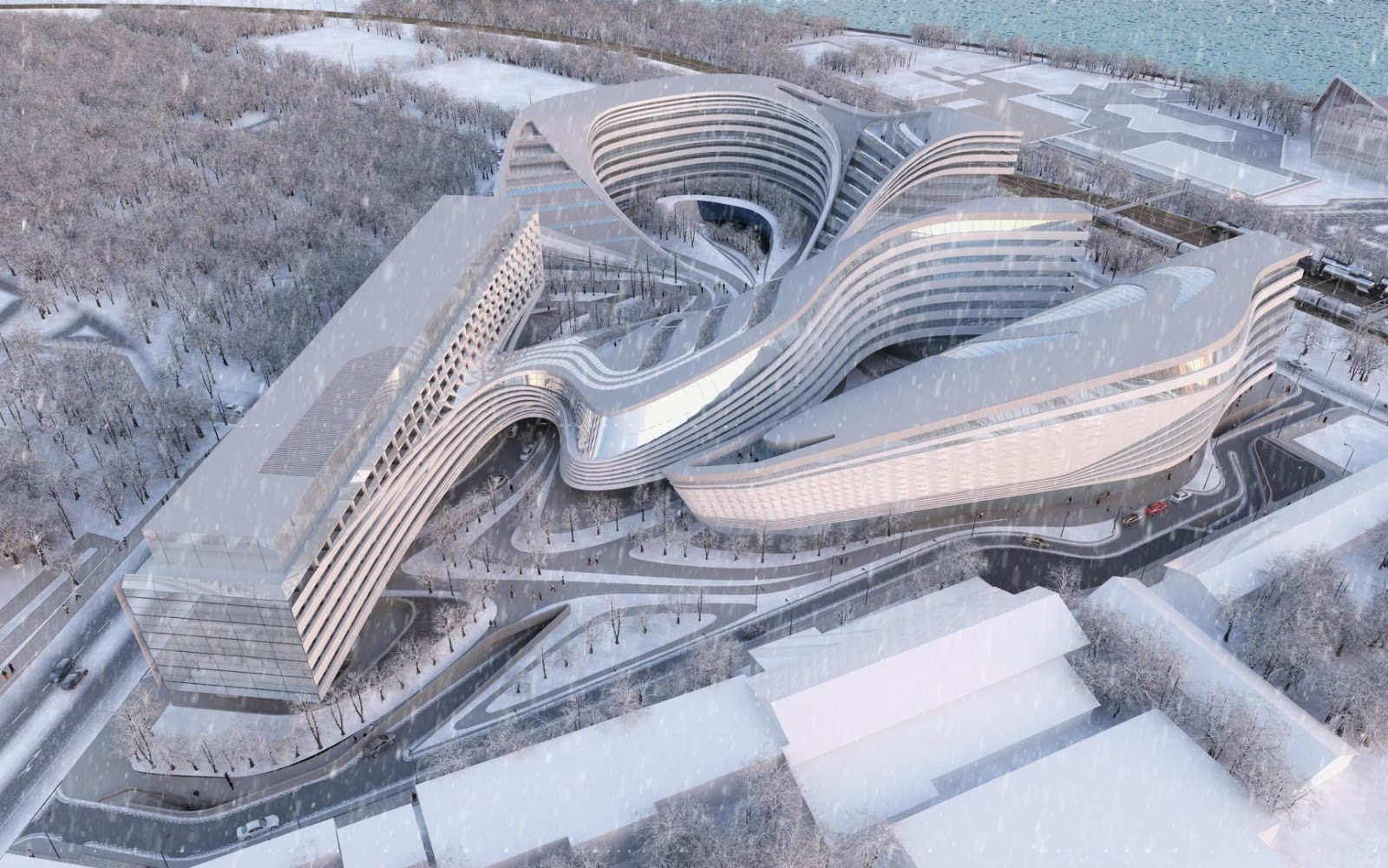 Modern cabinet zaha hadid architects doing their magic for U of m architecture