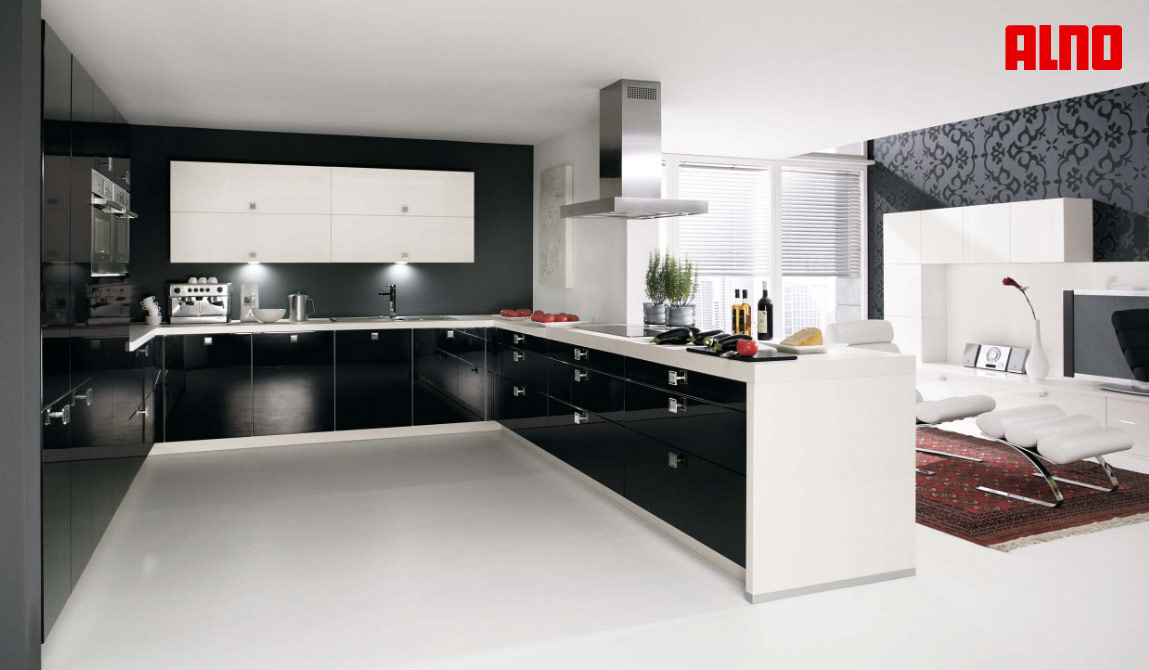 Modular U Shaped Kitchen Designs For Indian House With An Island