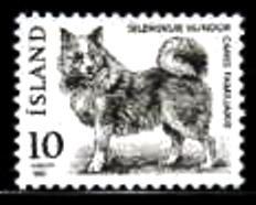 1980年アイスランド共和国 犬の切手