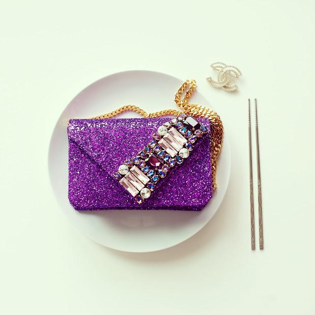 Gedebe mini v clutch, embellished clutch, new in, jeweled clutch