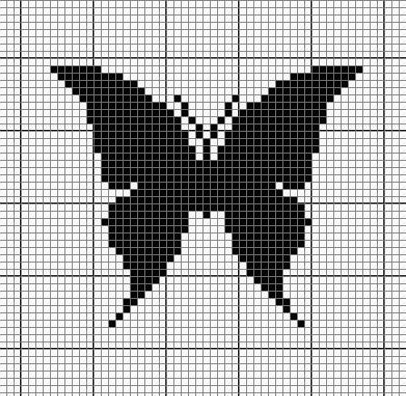 Схема рисунка бабочка крючком