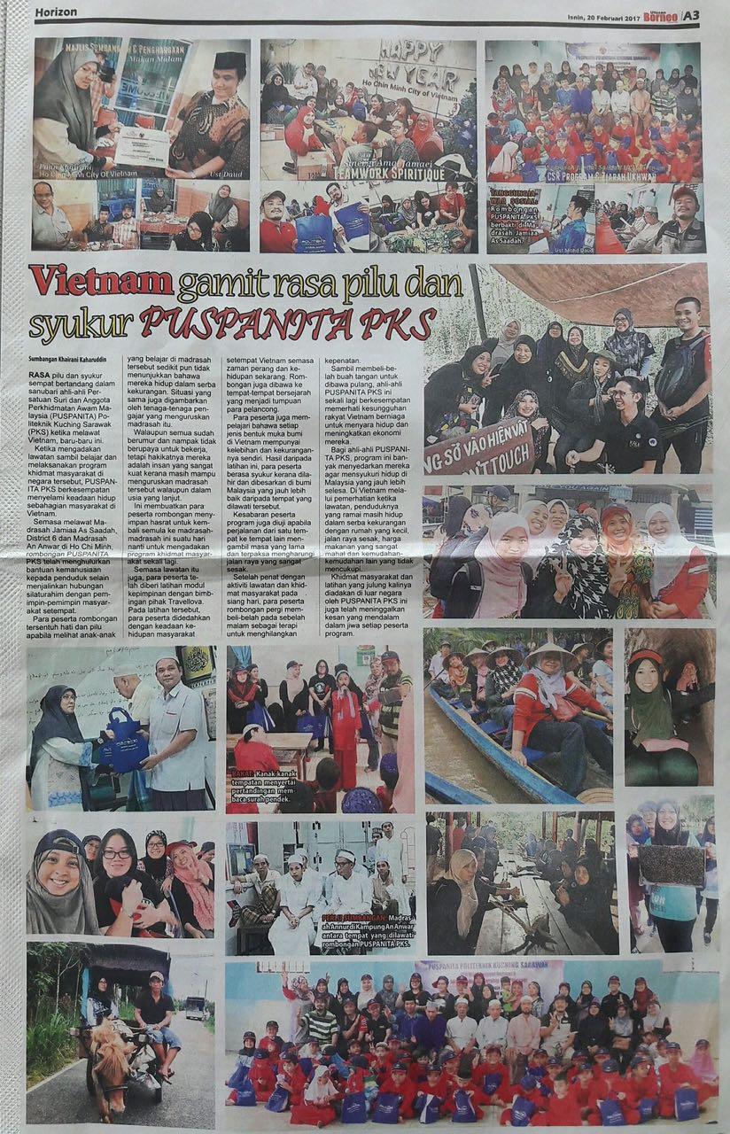 Akhbar Utusan Borneo 20/2/2017