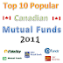 Top 10 Best Canadian Mutual Funds 2013
