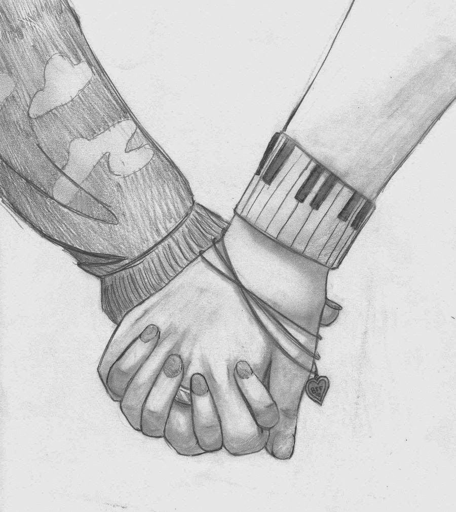 Girls Holding Hands Tumblr Drawing