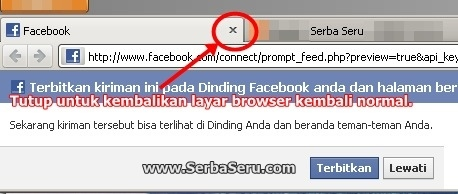 Update status fb mobile link warna biru