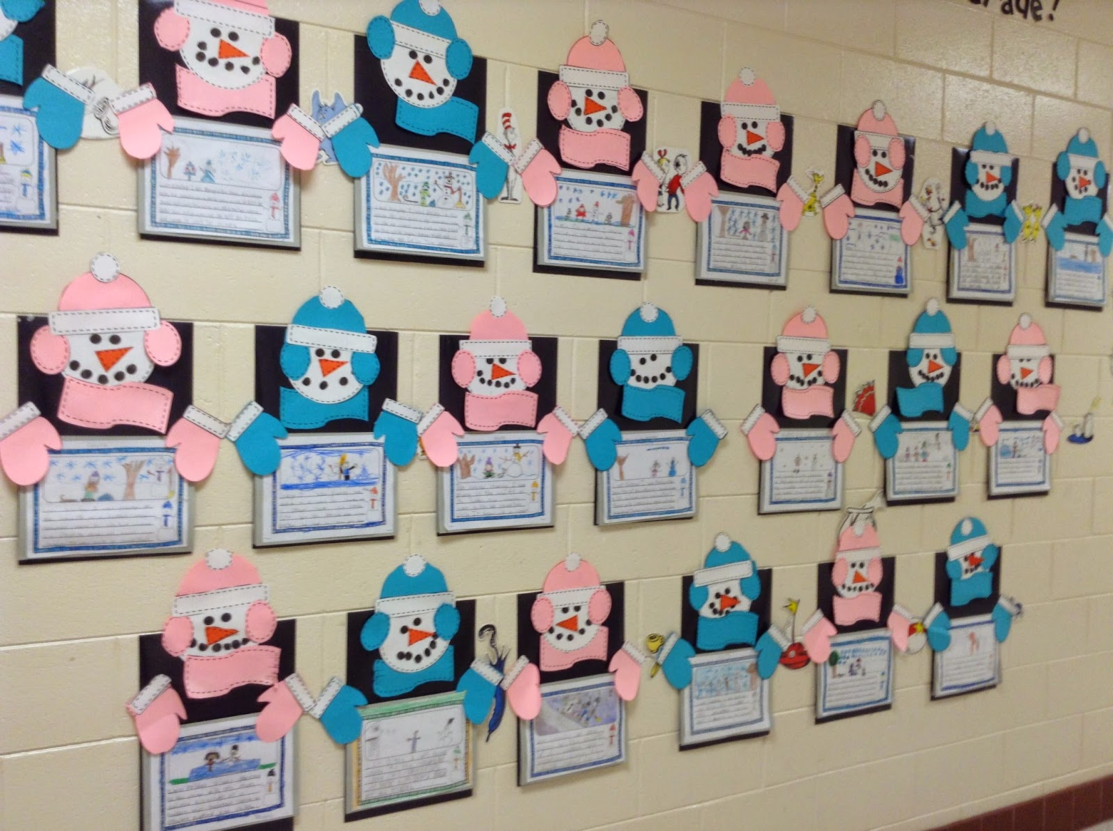 Super second grade smarties winter writing and snowman craft and free