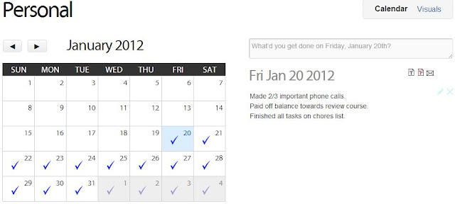 idonethis calendar notes january 2012