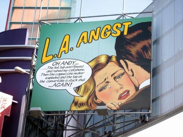 Retro LA Angst billboard Universal CityWalk