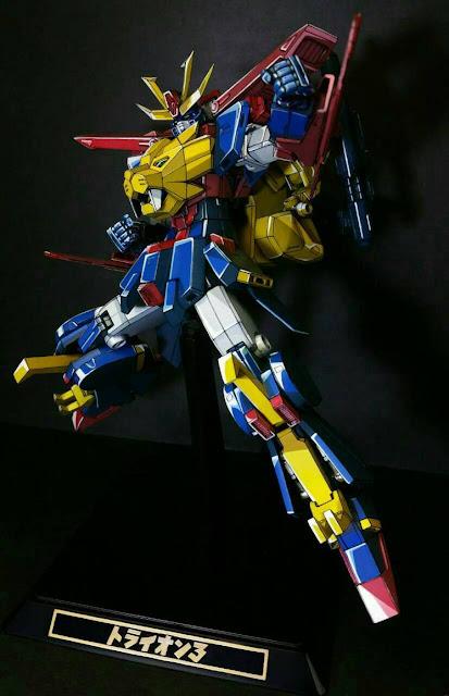 Gundam Model Kit HGBF Gundam Tryon 3 Anime Colors
