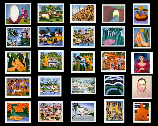 Obras Diversas de Tarsila do Amaral