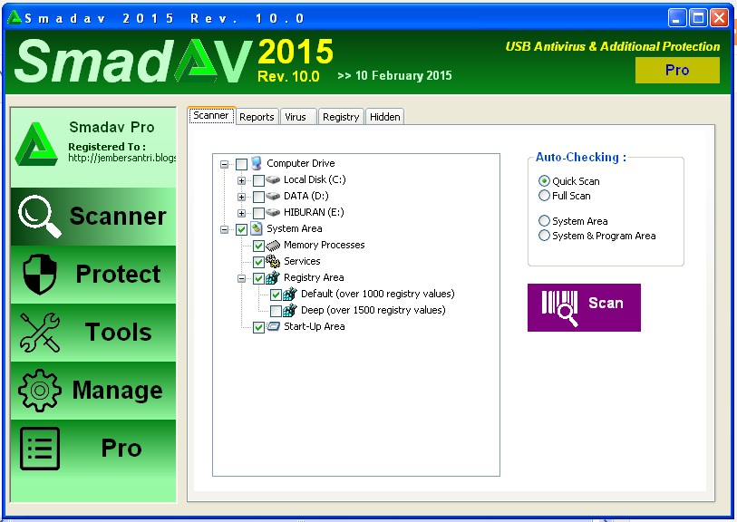 Smadav Pro Rev 10.0.0 Full Serial Number Key Terbaru 2015