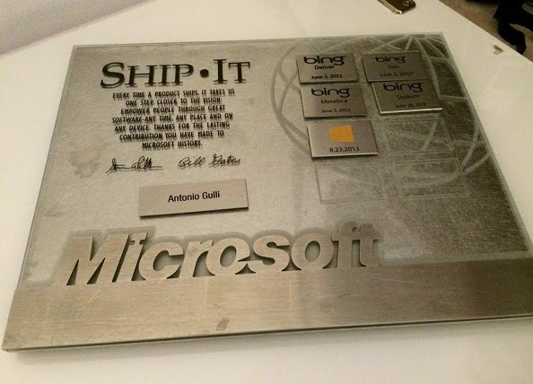 Antonio Gulli My Shipit Microsoft