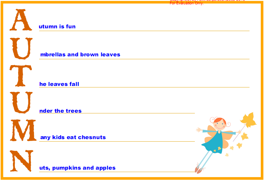 Acrostic Poems For Kids Fall Lessons Tes