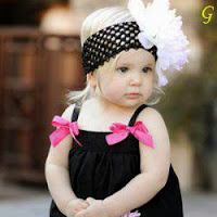 Cute Baby Images With Black Dress Pictures
