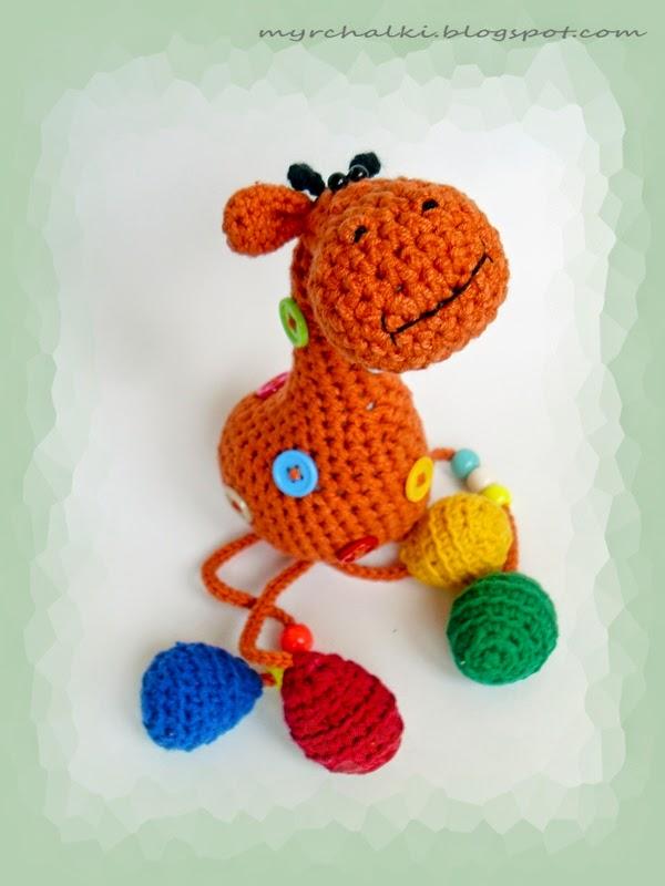 Жираф крючком своими руками