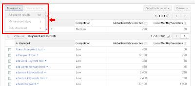 Step 6: Google keyword tool for seo