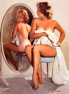 Mirror mirror on the wall Elvgren pinup