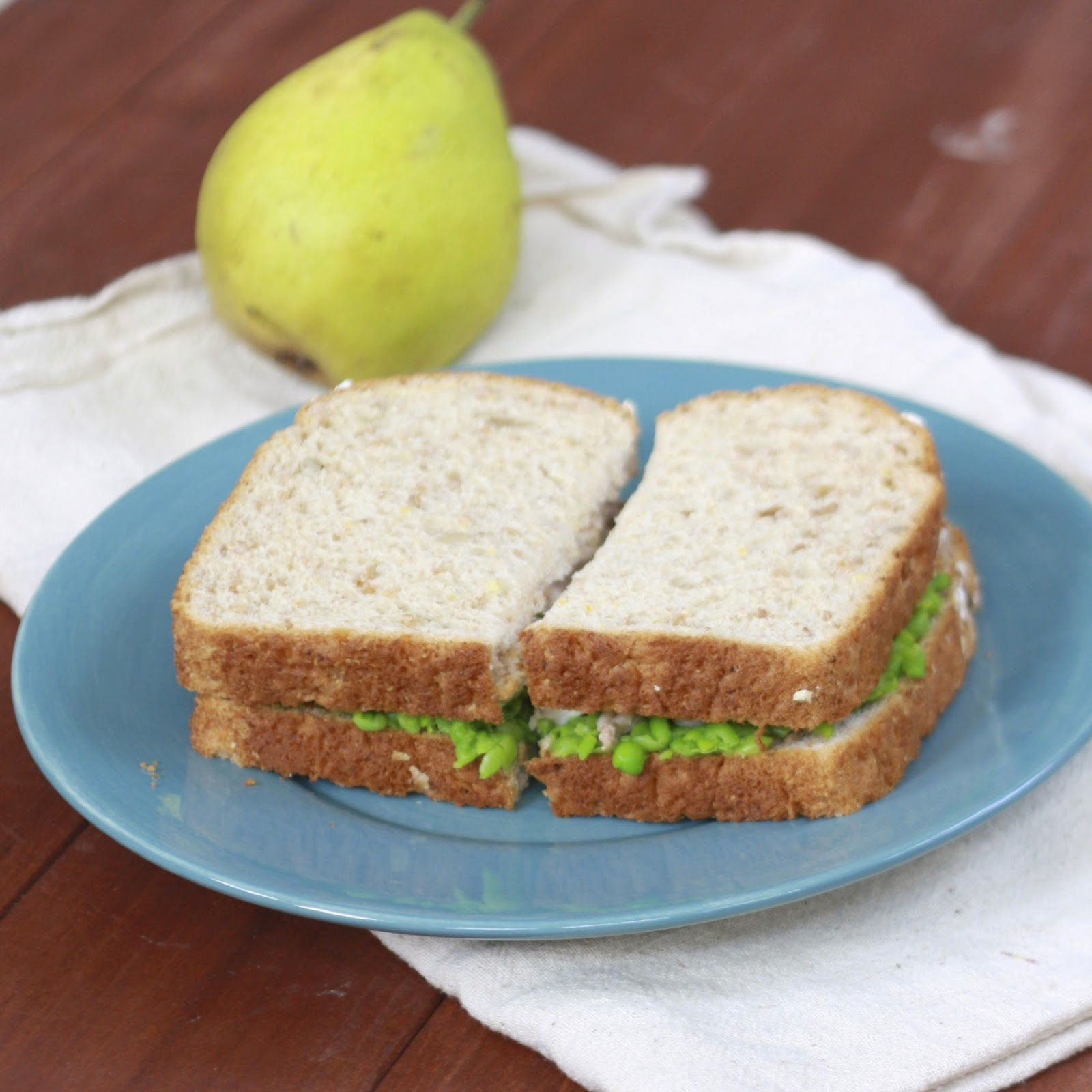 Turkey, Smashed Pea, and Pesto Sandwich | The Sweets Life