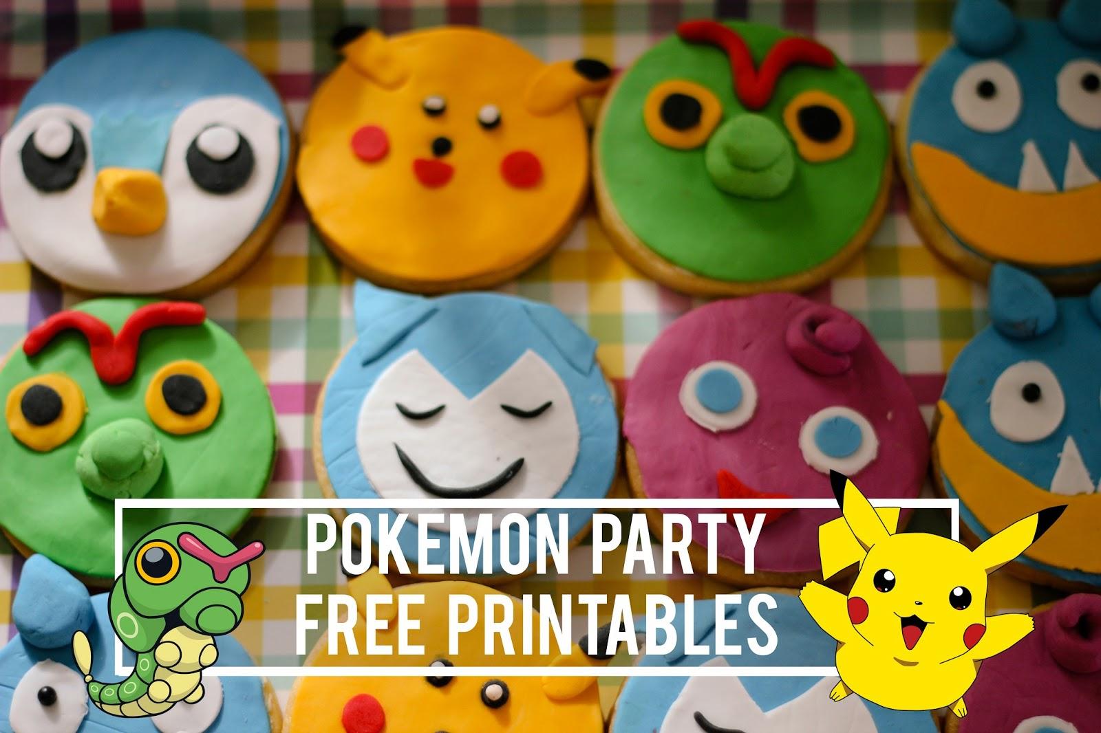 Pokemon party free printables | Maxabella Loves