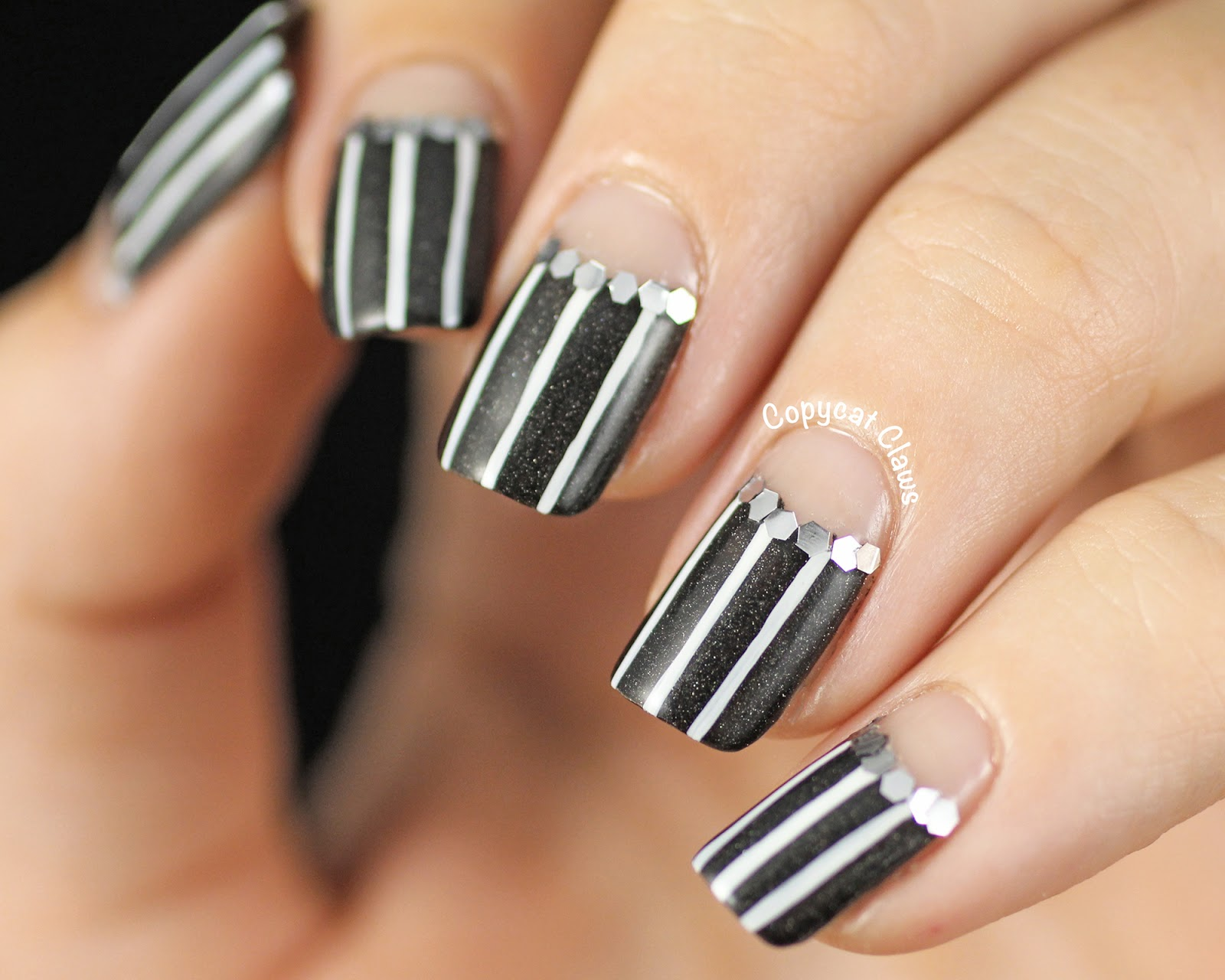 Copycat Claws 31dc2014 Day 18 Pinstripe Half Moonsd Another