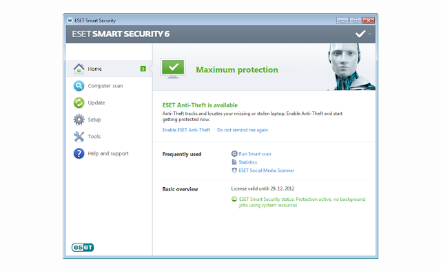 ESET Smart Security 6.0 - Interface
