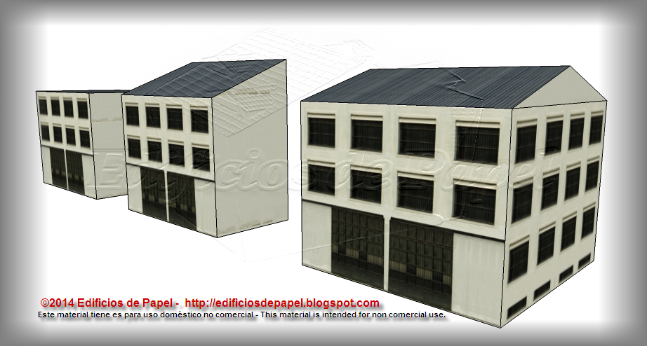 Basement windows in the new paper model of the factory