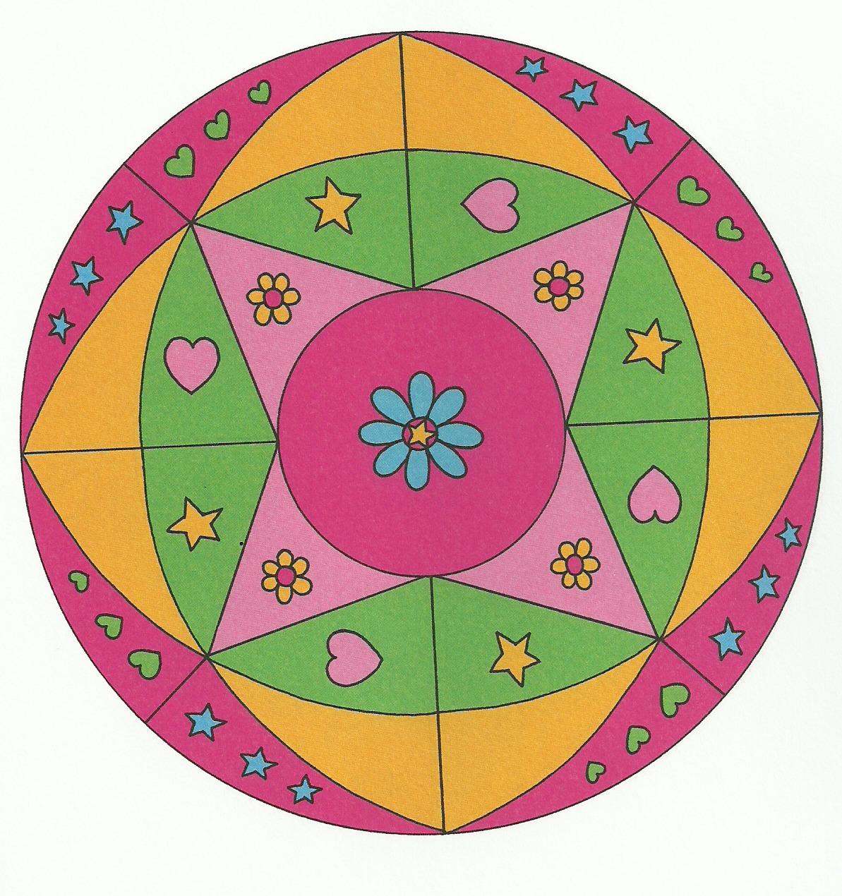 Los pepinillos en vinagre mandalas divertidos para ni os for Mandalas ninos
