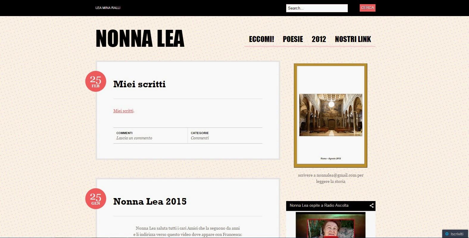 Blog da Nonna Lea