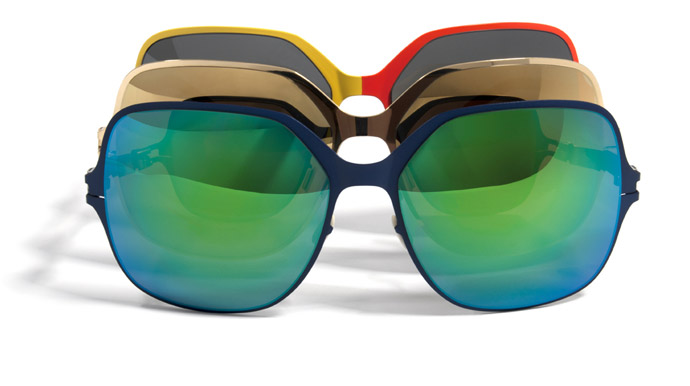 Sunglasses go bi for Mykita and Bernhard Willhelm: Blue Velvet, Gold and Bi-Color