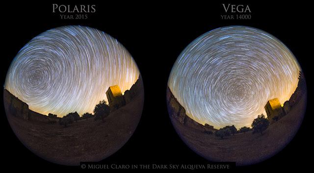 Khi Vega là sao Bắc cực. Tác giả : Miguel Claro | Dark Sky Alqueva.