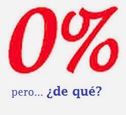 qué significa 0%?