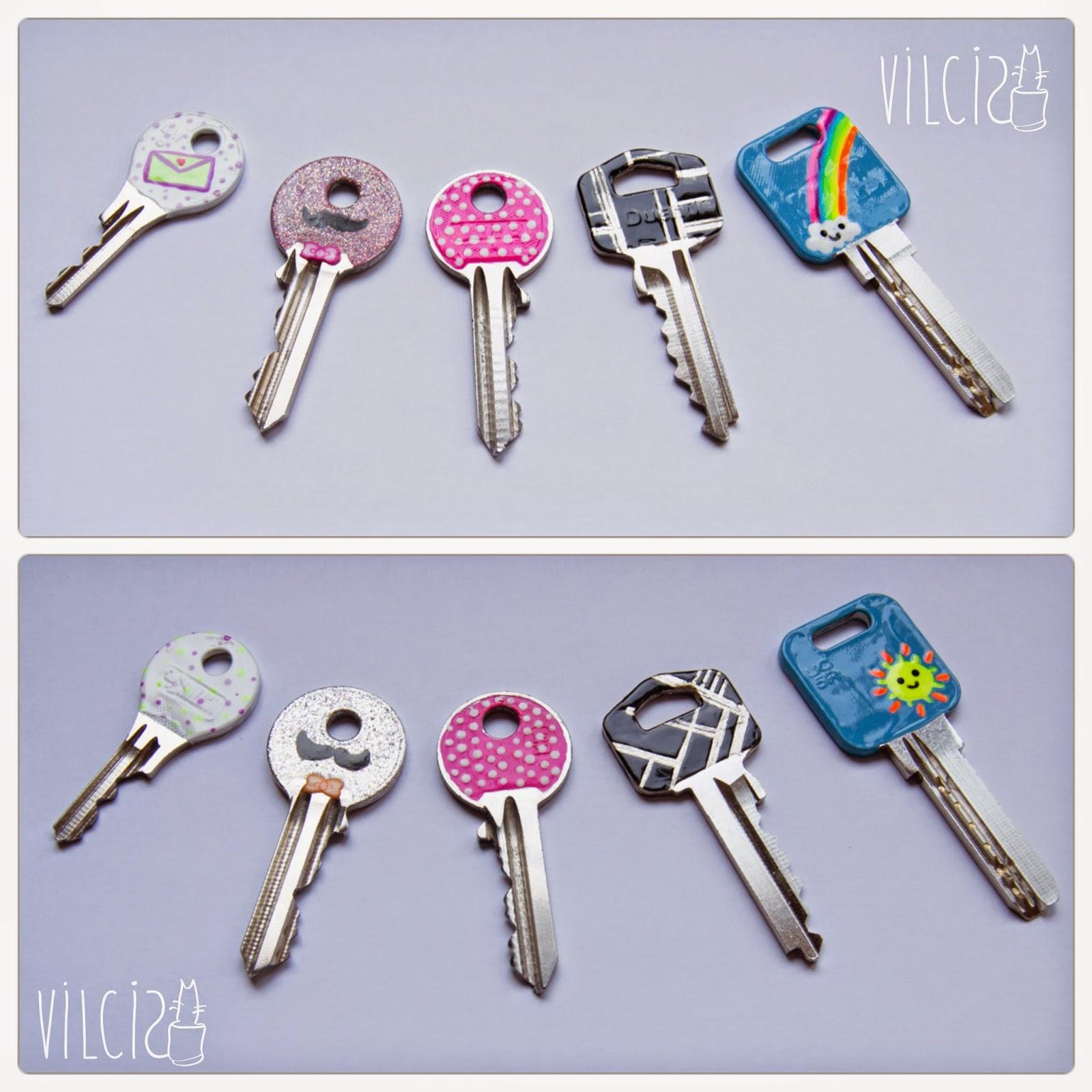 como decorar tus llaves con esmalte de uñas vilcis