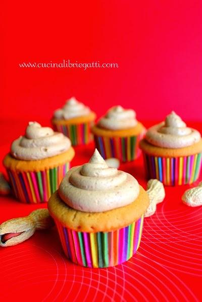 cupcake burro d'arachidi