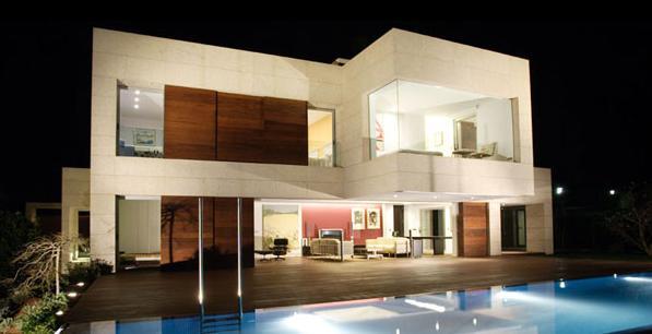 Construindo minha casa clean 35 fachadas de casas for Fachadas estilo minimalista casas