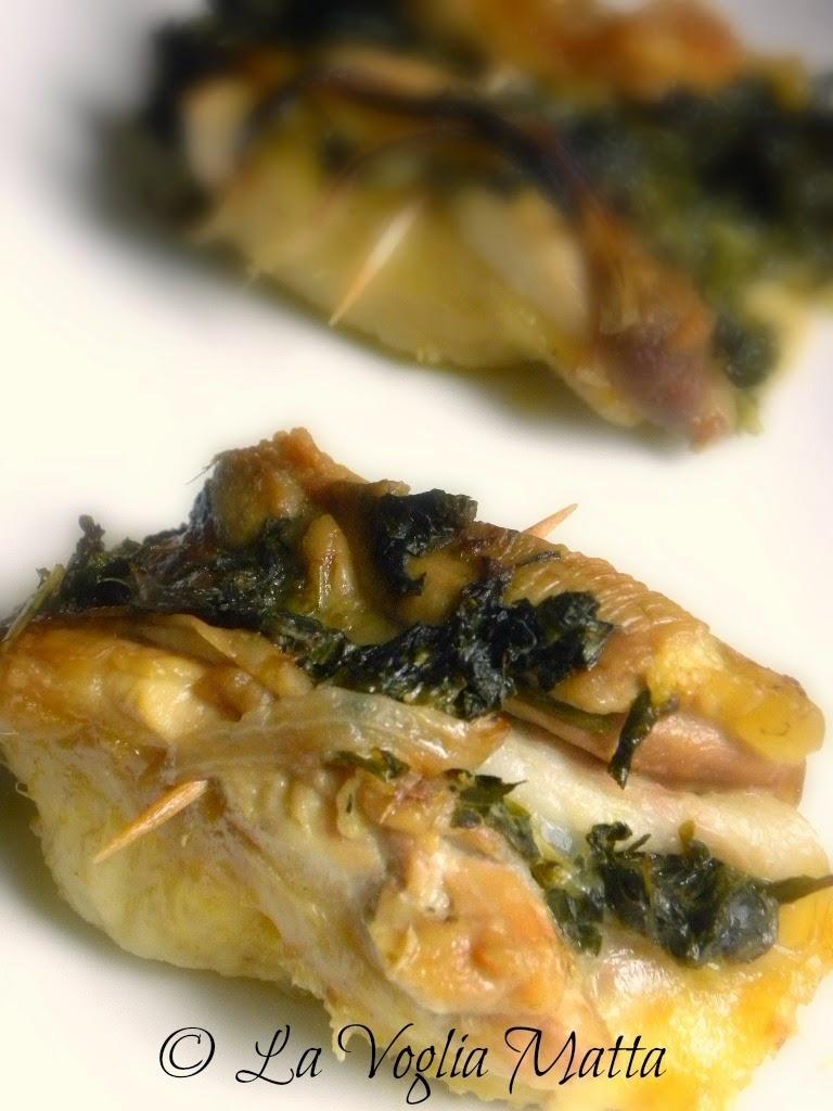 involtini di pollo con sclopit, pancetta e provola
