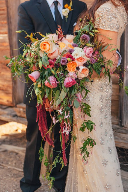 Cascading Wedding Bouquets Look Amazing