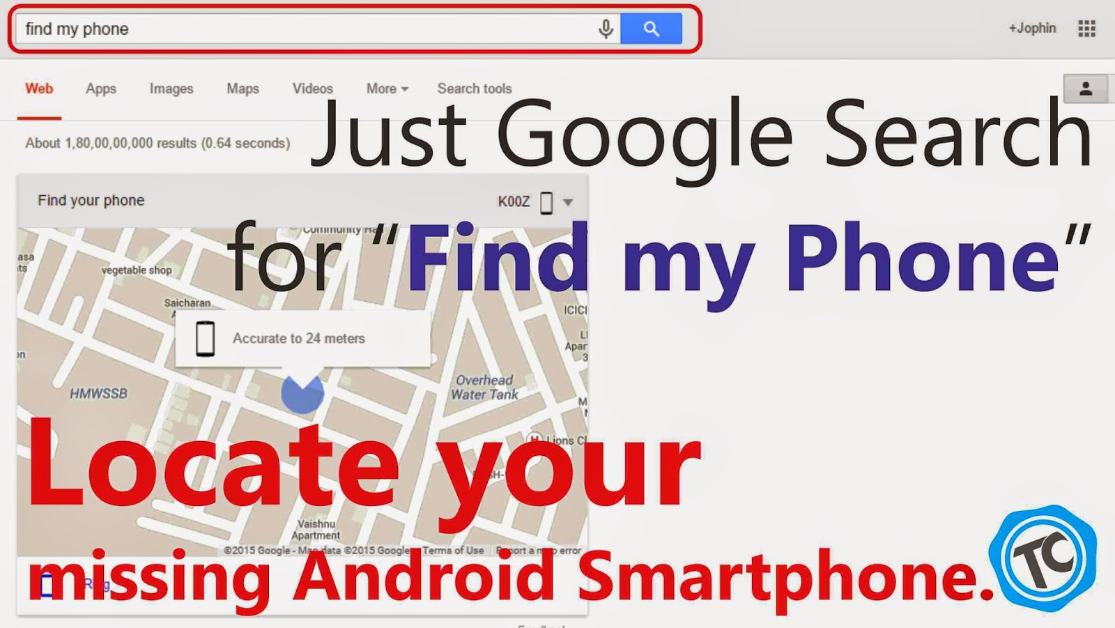 Now You can Literally Locate Your Android Phone by Searching for it on Google!