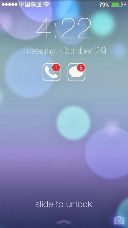 HI Lockscreen iOS 7,Parallax