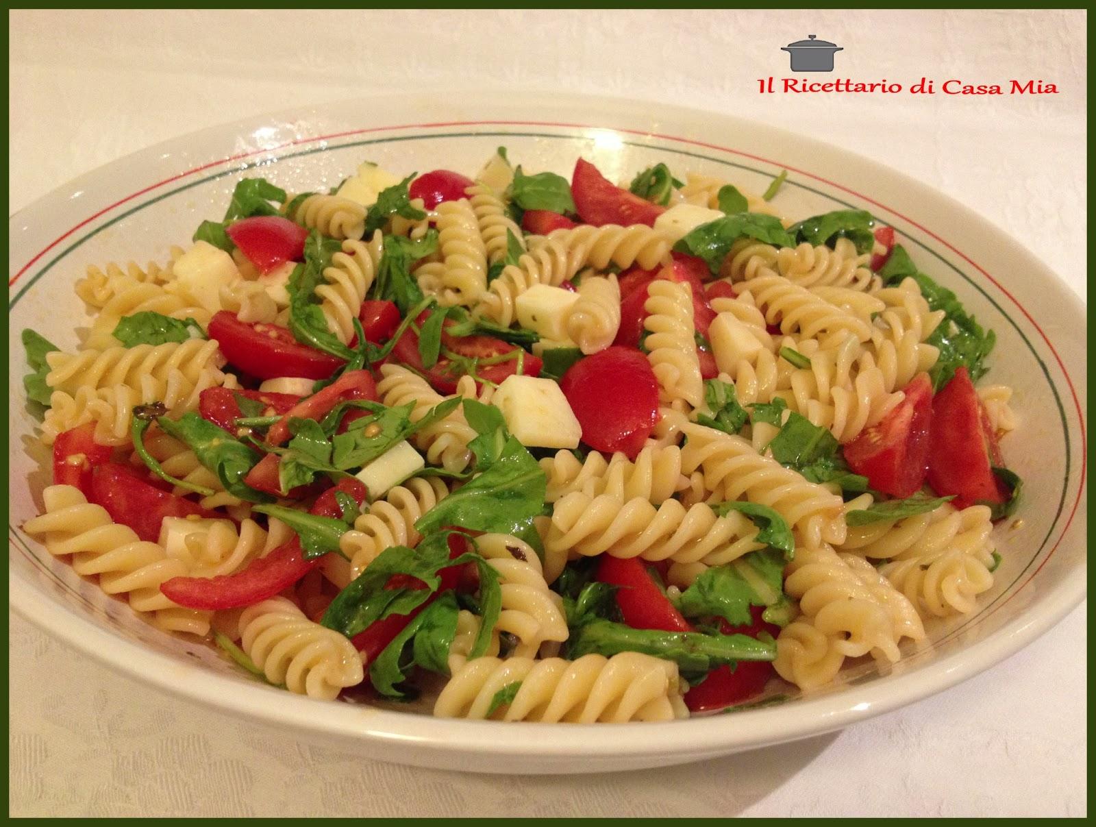 Favori Il Ricettario di Casa Mia: Pasta Fredda con Pomodorini e Rucola PZ83