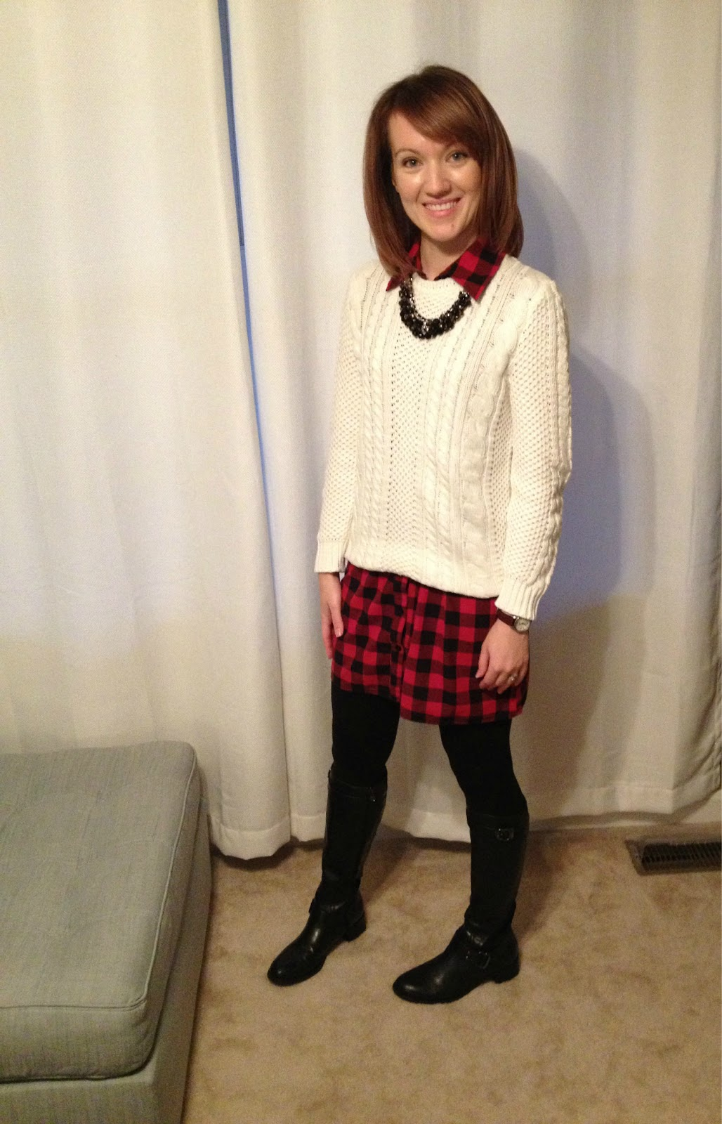A Little Bit Of Wowe Sweater Over Dress