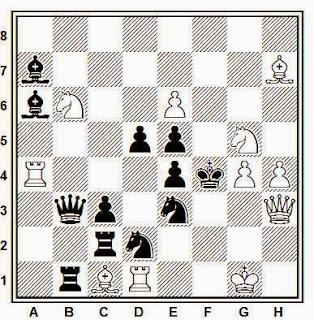Problema de mate en 2 compuesto por E. Puig Ambrós (Torneo temático español, 1945-46)