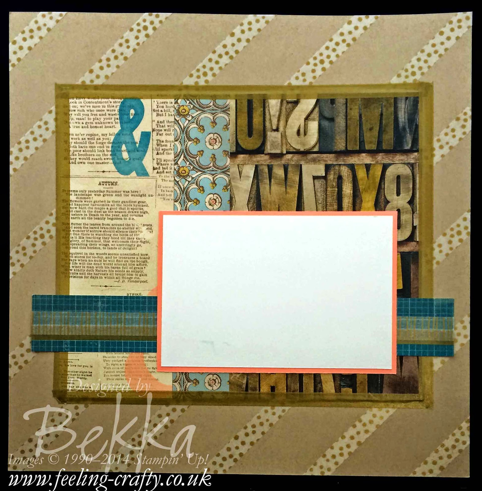 Washi Tape Fun Scrapbook Page by Stampin' Up! UK Independent Demonstrator Bekka - check out her blog each Saturday for Scrapbooking Ideas