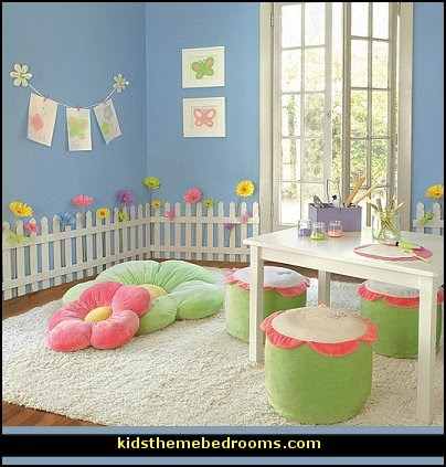 Baby Girl Garden Nursery Theme Decorating Ideas   Flower Garden Theme Baby  Bedrooms   Butterfly Bedroom