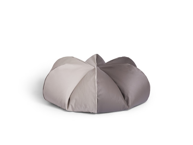 Leather Beanbag Grisaille