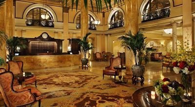 The luxurious lobby of The Willard Hotel, now known as The Willard Intercontinental