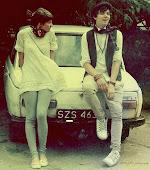 Los dos hablando pero sin hablar, los dos mirando a los ojos, para decir sin palabras.. te quiero.