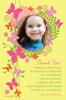 Custom butterfly flower garden birthday party invitation by Sassy Photo Creations