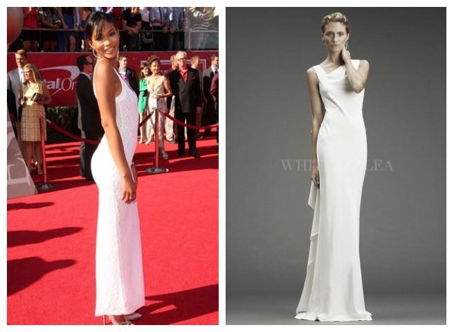 Long White Sheath Dress